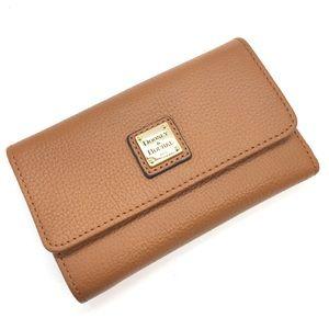 "NEW Dooney Bourke Pebble Flap Wallet Leather 6"""